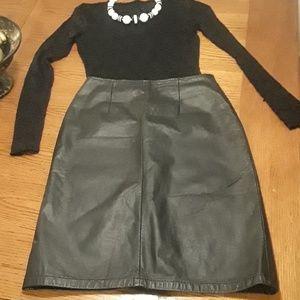 """Michelle Stewart"" Leather Pencil Skirt"